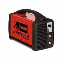 Aparat de sudura Telwin TECHNOLOGY 186 HD Invertor 230V Rosu - Invertor sudura