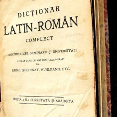 Dictionar latin - roman ed 1913