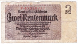 Germania bancnota 2 rentenmark mark marci 1937