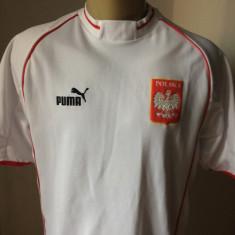 Tricou fotbal PUMA POLONIA NATIONALA NR.6 MONDIAL - Set echipament fotbal Puma, Marime: L