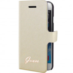 Husa Flip Cover Guess GUFLBKP6TOC Tori Bej pentru APPLE iPhone 6, iPhone 6S - Husa Telefon