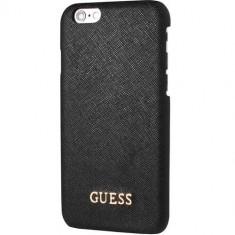 Husa Protectie Spate Guess GUHCP7LTBK Saffiano Negru pentru Apple iPhone 7 Plus - Husa Telefon