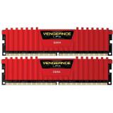 Memorie Corsair Vengeance LPX Red 8GB DDR4 2400 MHz CL16 Dual Channel Kit, DDR 4, 8 GB