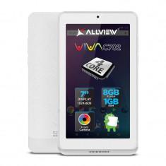 Tableta Allview Viva C702 7 inch Cortex A53 1.3 GHz Quad Core 1GB RAM 8GB flash WiFi Android 6.0 White