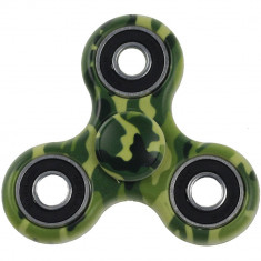 Jucarie antistres Star Camouflage Fidget Spinner Green