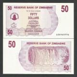 ZIMBABWE  50  DOLARI  DOLLARS  2006  2007  UNC   [1]  P-41  ,  necirculata
