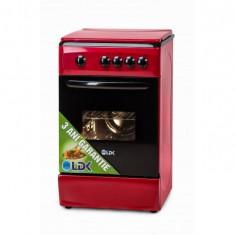 Aragaz LDK 5060 RED NG gaz 4 arzatoare Rosu