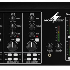 Amplificator-mixer 4 zone 100V Monacor PA-4040