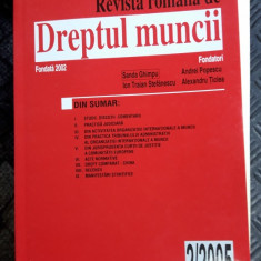 DREPTUL MUNCII NUMARUL 2/2005 ,APRILIE -IUNIE ,GHIMPU ,TICLEA