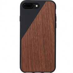 Husa Protectie Spate Native Union CLIC-BLK-WD-7P Walnut Wood Negru pentru Apple iPhone 7 Plus - Husa Telefon Native Union, iPhone 7/8 Plus, Plastic, Carcasa