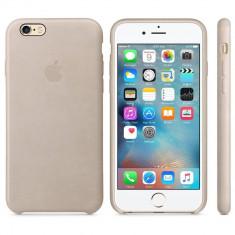 Husa Protectie Spate Apple Leather Case Gri Rose pentru iPhone 6s plus - Husa Telefon Apple, iPhone 6 Plus, Piele