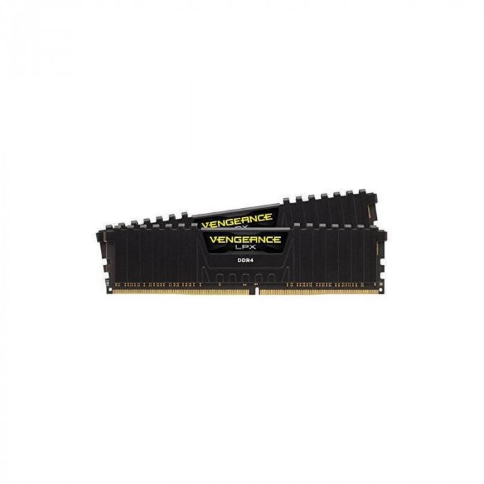 Memorie Corsair Vengeance LPX Black 16GB DDR4 2400 MHz CL14 Dual Channel Kit foto mare