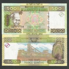 GUINEEA GUINEA 500 FRANCI FRANCS 2006 UNC [1] P-39a, necirculata - bancnota africa