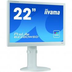 Monitor LED Iiyama ProLite B2280WSD-W1 22 inch 5 ms White, 1680 x 1050
