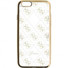 Husa Protectie Spate Guess GUHCP6TR4GG Transparent Auriu pentru APPLE iPhone 6, iPhone 6S - Husa Telefon