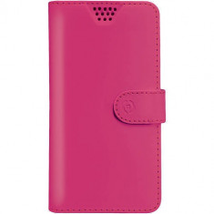 Husa Flip Cover Celly 108470 Agenda Unica XL roz - Husa Telefon