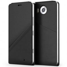 Husa Flip Cover Mozo 950FBGWN Black Golf cu NFC si Wireless Charging pentru Microsoft Lumia 950 - Husa Telefon