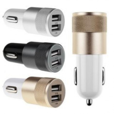Incarcator auto 2 usb/ 5V, 1A/2A/3.4 A/ Samsung/Iphone/noi - Car kit