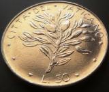 Moneda 50 LIRE - VATICAN, anul  1974 *cod 1111 = UNC din fasic