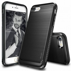 Husa Protectie Spate Ringke Onyx Black plus folie protectie display pentru Apple iPhone 7 - Husa Telefon Ringke, iPhone 7/8 Plus, Plastic, Carcasa