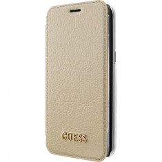 Husa Flip Cover Guess GUFLBKS8LIGLTGO Auriu pentru SAMSUNG Galaxy S8 Plus