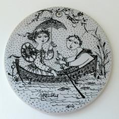Placa ceramica / Tablou - portelan Bavaria - Rosenthal - Iulie
