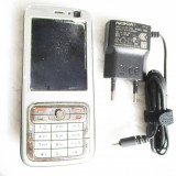 Telefon Nokia N73 baterie slaba, incarcator, Argintiu, 2GB, Neblocat