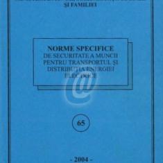 Norme specifice de securitate a muncii pentru transportul si distributia energiei electrice - Carte Dreptul muncii