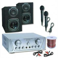 HIFI SET HVA 200 + 130 + MC 2 microfoane - Karaoke 1 - Monitor studio