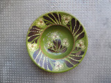 10 Farfurie veche din ceramica pentru agatat pe perete blid vechi 22 cm diam.