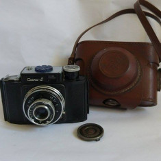 Aparat foto vintage Smena 2, conditie foarte buna, cu toc si capac pt obiectiv - Aparate Foto cu Film