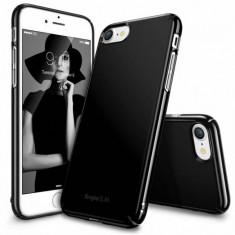 Husa Protectie Spate Ringke Slim Gloss Black plus folie protectie display pentru Apple iPhone 7 - Husa Telefon Ringke, iPhone 7/8 Plus, Plastic, Carcasa