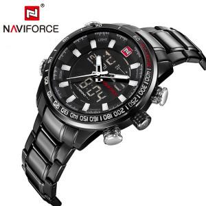 Ceas Luxury Naviforce NF9093 DualTime Subacvatic Japan Movement BARBATI CALENDAR