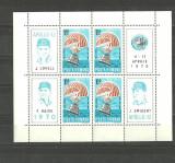 Romania 1970 - COSMOS APOLLO 13, bloc de 4 nestampilat, R12