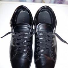 Pantofi piele zara - Pantofi barbat Zara, Marime: 44, Culoare: Negru