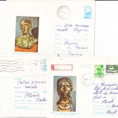 Bnk ip Lot 3 intreguri postale 1973 - circulate - Storck, Dupa 1950