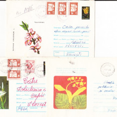 Bnk ip Lot 7 intreguri postale 1974 - circulate - Plante medicinale, Dupa 1950