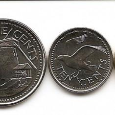 Barbados Set 5 - 1, 5, 10, 25 Cents, 1 Dolar (2008/09) UNC !!!, America de Nord
