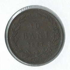 160- 10 Bani 1867 - Moneda Romania