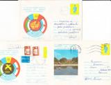 Bnk ip Lot 3 intreguri postale 1978 - circulate - Balcaniada de mars, Dupa 1950