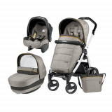 Carucior 3 in1 Book Plus 51 S Black&White Completo Elite Luxe Grey, Peg Perego