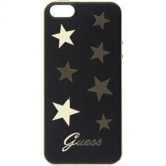 Husa Protectie Spate Guess GUHCPSESTABK Stars Negru pentru APPLE iPhone SE - Husa Telefon
