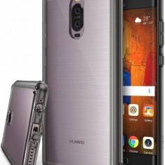 Husa Protectie Spate Ringke Fusion Smoke Black plus folie protectie display pentru Huawei Mate 9 Pro - Husa Telefon Ringke, Gel TPU