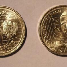 MONEDA DE 50 BANI 2010 UNC din fisic, AUREL VLAICU - Moneda Romania, Cupru-Nichel