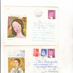 Bnk ip Lot 2 intreguri postale 1976 - circulate - Pictura Tonintza, Dupa 1950