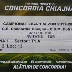 Bilet Concordia Chiajna v CSM Politehnica Iasi Liga 1 28.7.2017 - Bilet meci