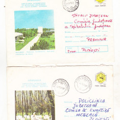 Bnk ip Lot 2 intreguri postale 1978 - circulate - Apimondia, Dupa 1950