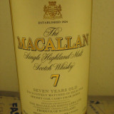 R A R E - whisky MACALLAN. single malt, 7 years, maxxium L.1 gr 40 ani 80-90