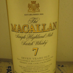 R A R E - whisky MACALLAN. single malt, 7 years, maxxium L.1 gr 40 ani 80-90