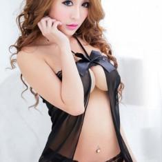 Lenjerie Sexy Clio, Marime: S/M, Culoare: Negru, Rosu